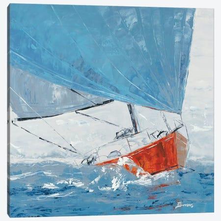 Grey Day Canvas Print #BRW4} by John Burrows Canvas Print