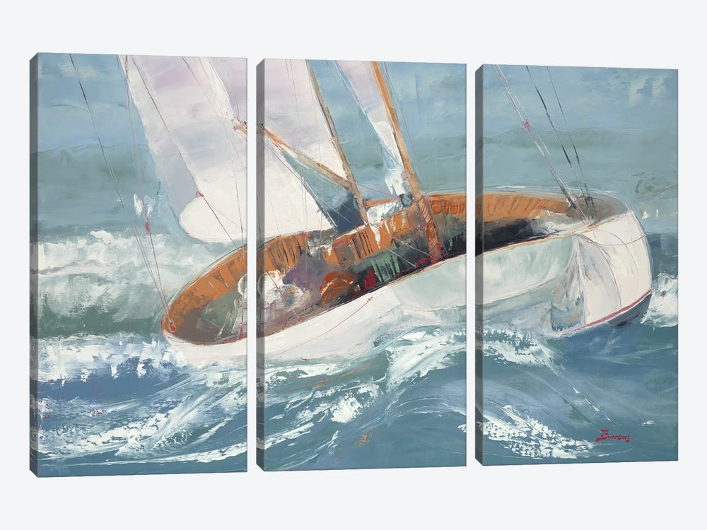 Out to Sea by John Burrows 3-piece Art Print