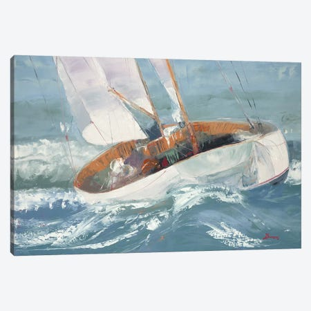 Out to Sea 3-Piece Canvas #BRW5} by John Burrows Canvas Print