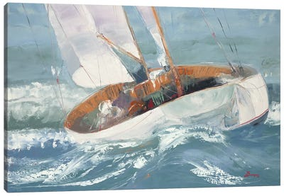 Out to Sea Canvas Art Print