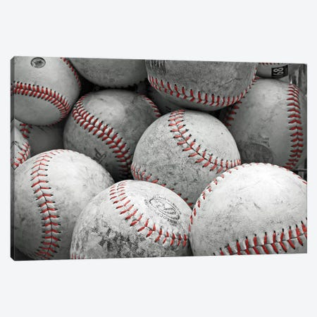 Vintage Baseballs Canvas Print #BRY1} by Brooke T. Ryan Canvas Artwork