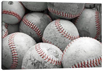 Vintage Baseballs Canvas Art Print