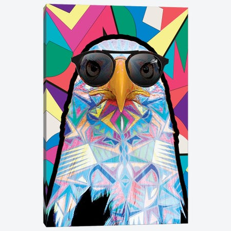 Animal Starz Aigle Canvas Print #BSA12} by Baro Sarre Canvas Wall Art