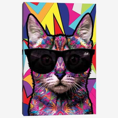 Animal Starz Chat Canvas Print #BSA14} by Baro Sarre Art Print