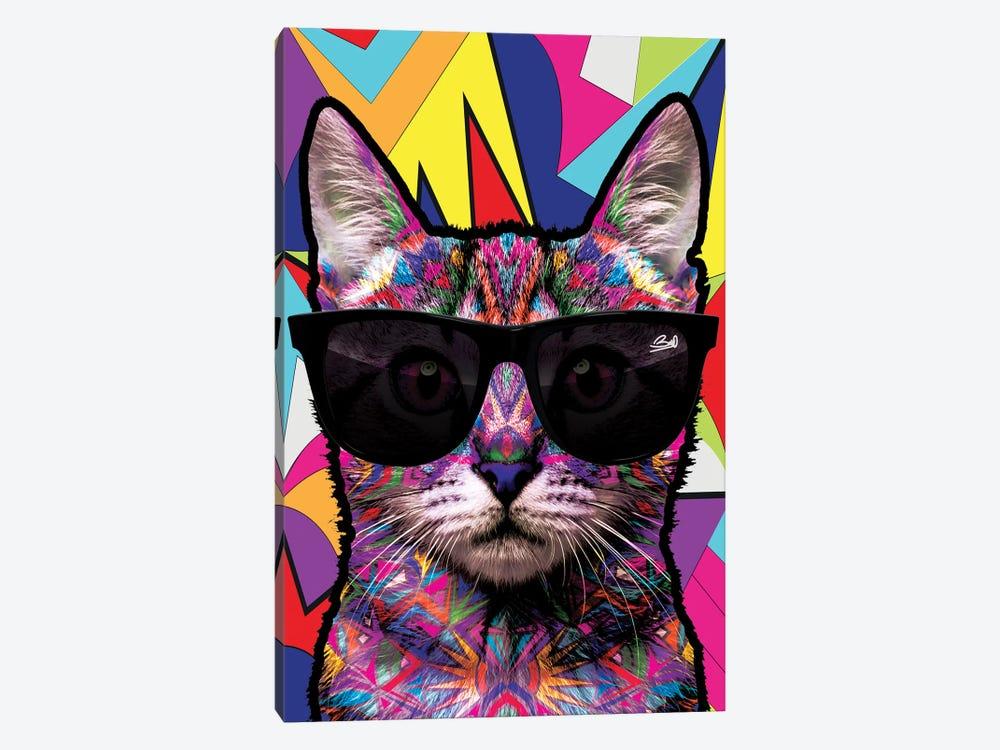 Animal Starz Chat by Baro Sarre 1-piece Canvas Art
