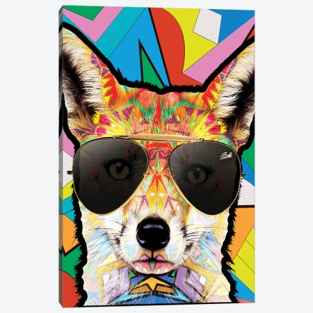 Animal Starz Renard Canvas Print #BSA16} by Baro Sarre Canvas Art Print