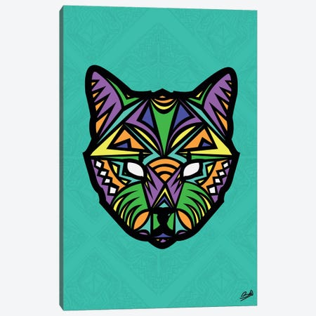 Chat Sauvage 3-Piece Canvas #BSA22} by Baro Sarre Canvas Print