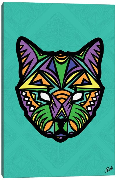 Chat Sauvage Canvas Art Print