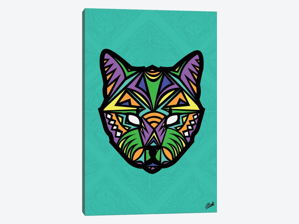 Chat Sauvage by Baro Sarre 1-piece Canvas Print