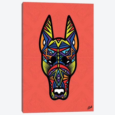 Doberman Sauvage Canvas Print #BSA28} by Baro Sarre Art Print