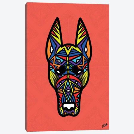 Doberman Sauvage Canvas Print #BSA28} by Baro Sarre Art Print