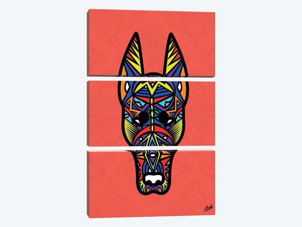 Doberman Sauvage by Baro Sarre 3-piece Canvas Art Print