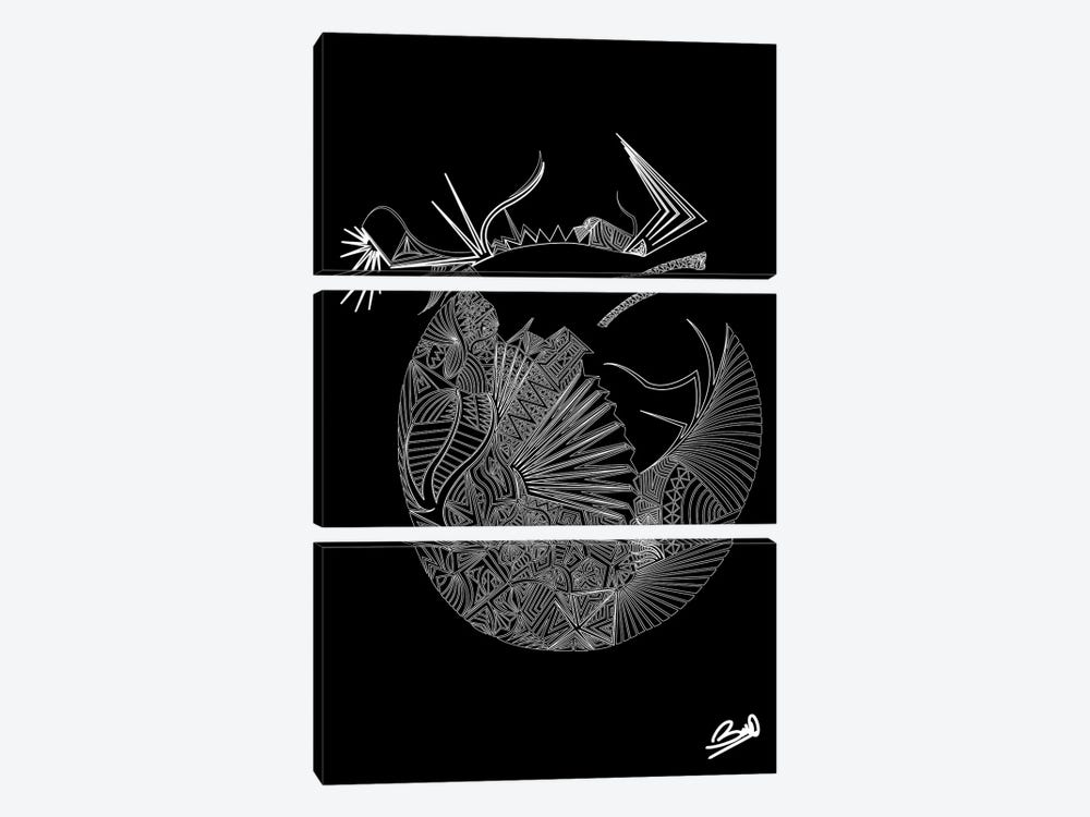 Adam Ou Eve by Baro Sarre 3-piece Canvas Art Print