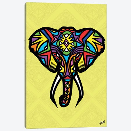Elephant Sauvage Canvas Print #BSA30} by Baro Sarre Canvas Art