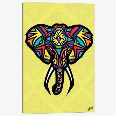 Elephant Sauvage Canvas Print #BSA30} by Baro Sarre Canvas Art