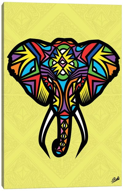 Elephant Sauvage Canvas Art Print