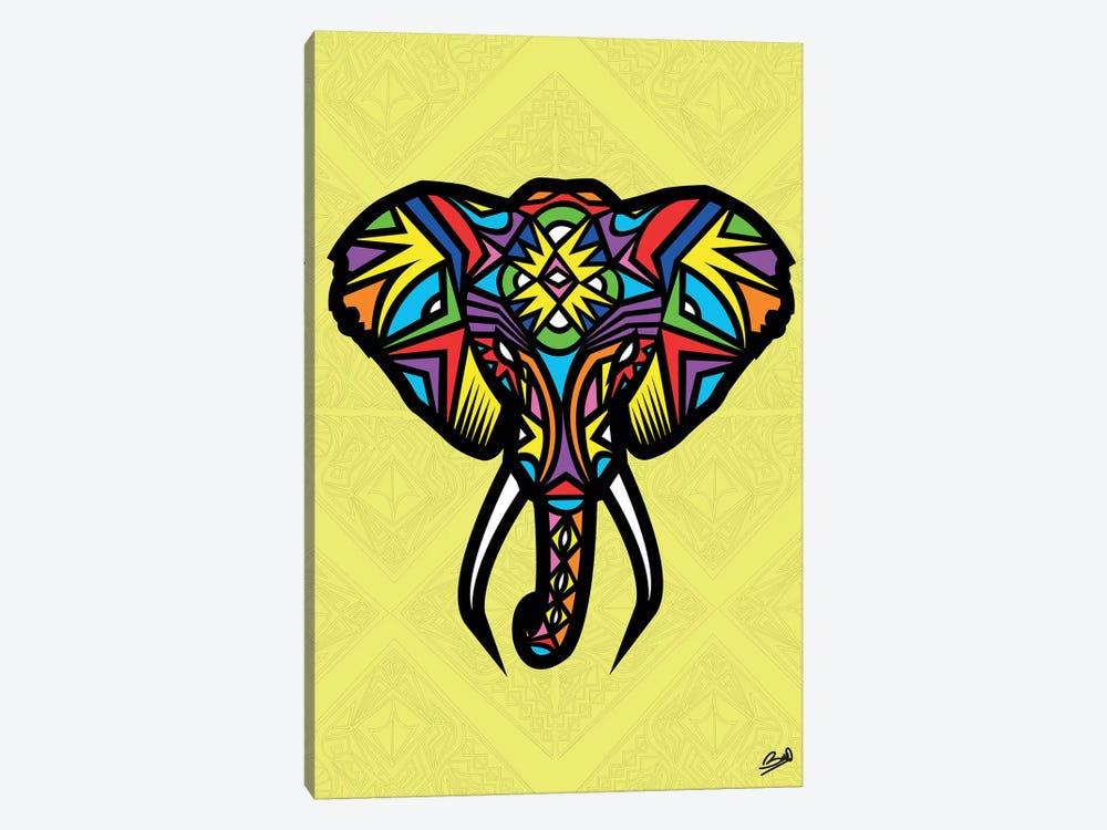 Elephant Sauvage by Baro Sarre 1-piece Canvas Artwork