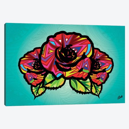 Flowers Canvas Print #BSA33} by Baro Sarre Canvas Wall Art