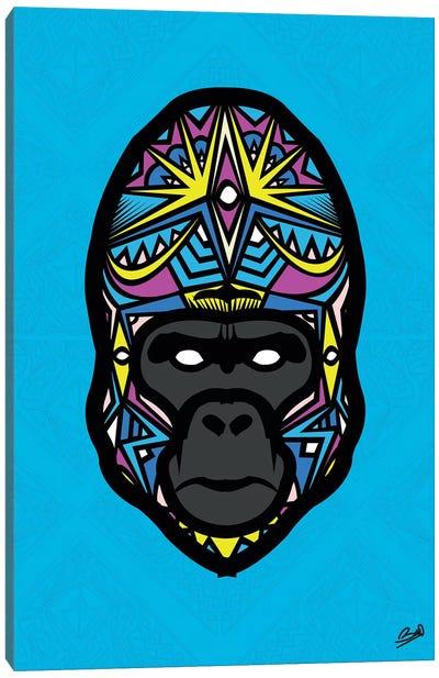 Gorille Sauvage Canvas Art Print