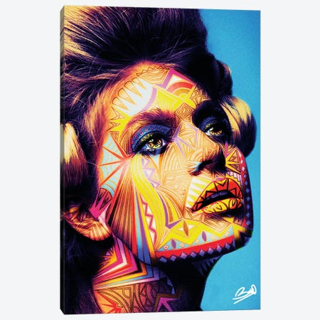 Jeanne Canvas Print #BSA39} by Baro Sarre Canvas Art