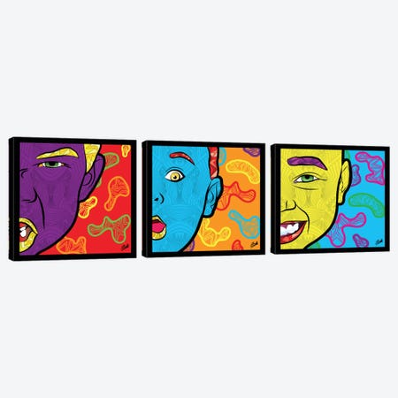 Pop Innocence Triptych Canvas Print Set #BSA3HSET001} by Baro Sarre Canvas Artwork