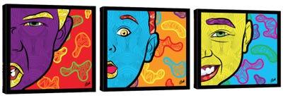 Pop Innocence Triptych Canvas Art Print