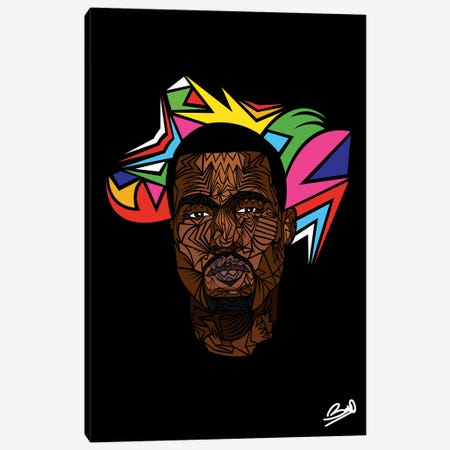 Kanye West Canvas Print #BSA40} by Baro Sarre Canvas Print