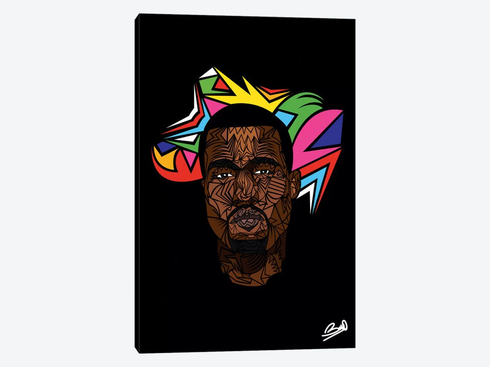 Kanye West by Baro Sarré 1-piece Canvas Art Print