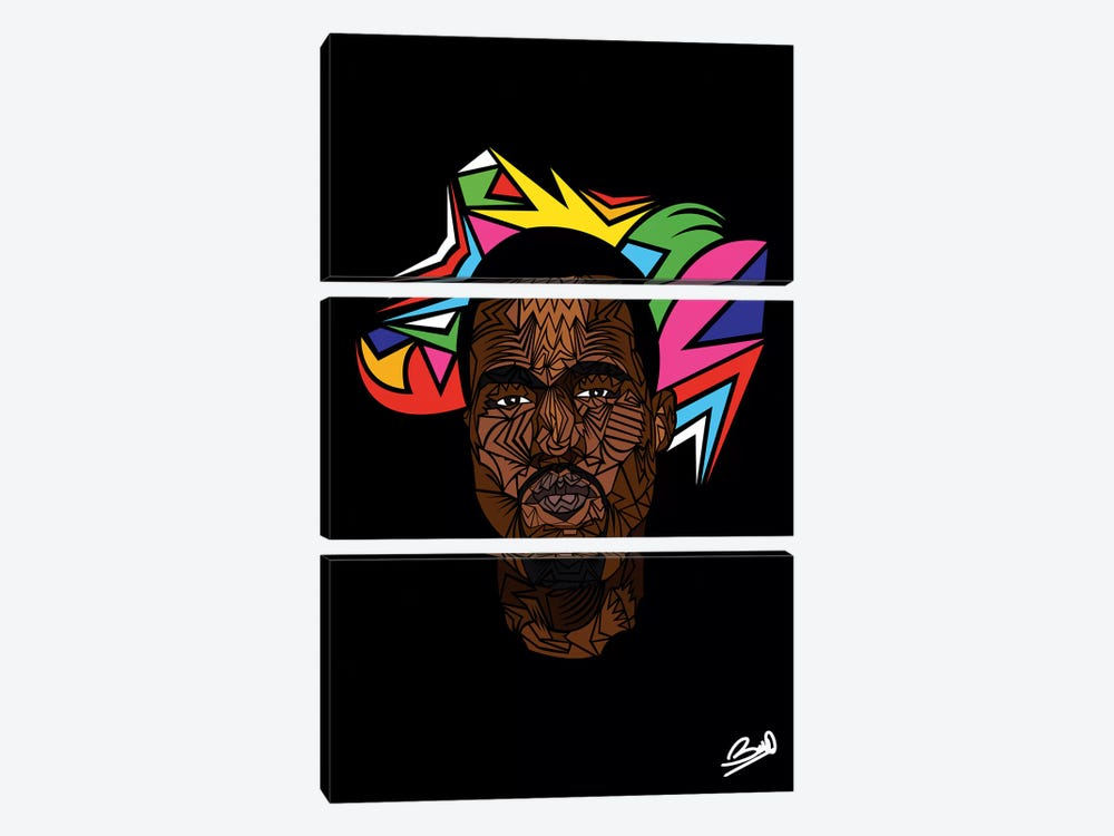 Kanye West by Baro Sarré 3-piece Art Print