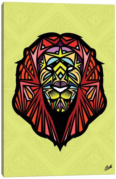 Lion Sauvage Canvas Art Print