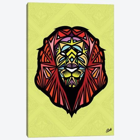 Lion Sauvage 3-Piece Canvas #BSA43} by Baro Sarre Canvas Print