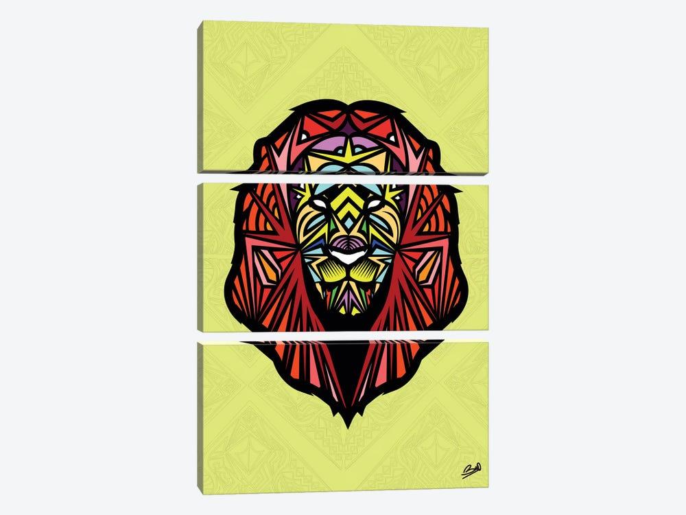 Lion Sauvage by Baro Sarre 3-piece Canvas Artwork