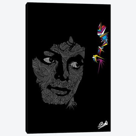 Michael Jackson Canvas Print #BSA46} by Baro Sarre Canvas Art