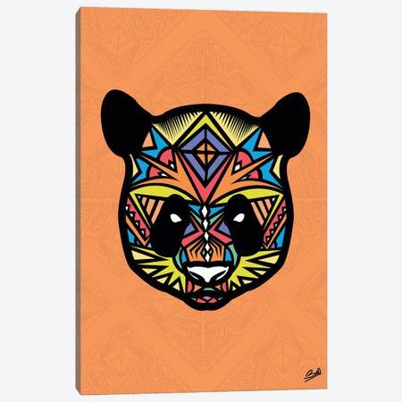 Panda Sauvage Canvas Print #BSA49} by Baro Sarre Art Print