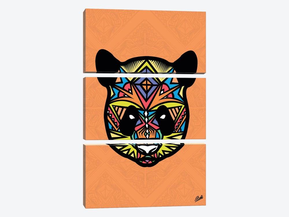 Panda Sauvage by Baro Sarre 3-piece Canvas Wall Art