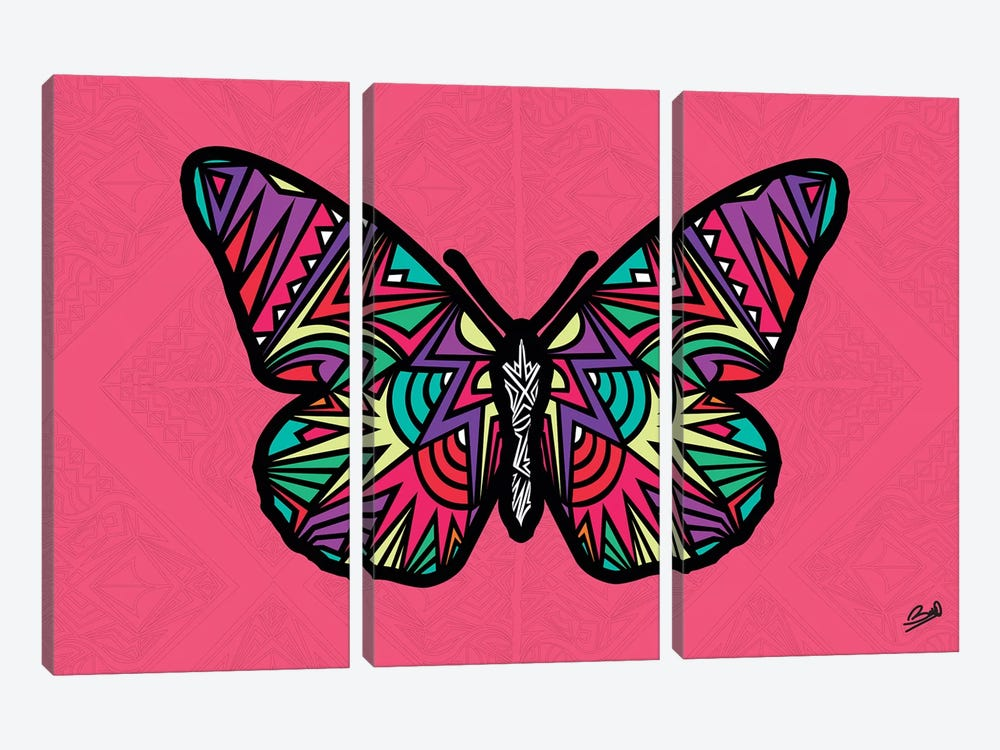 Papillon Sauvage by Baro Sarre 3-piece Canvas Art