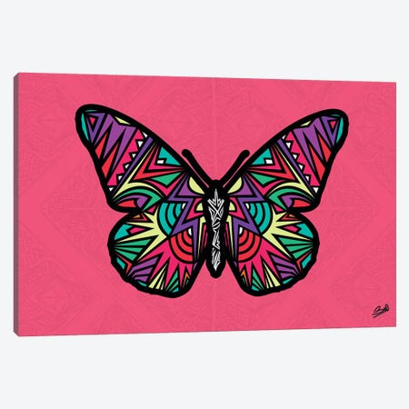 Papillon Sauvage 3-Piece Canvas #BSA50} by Baro Sarre Canvas Wall Art