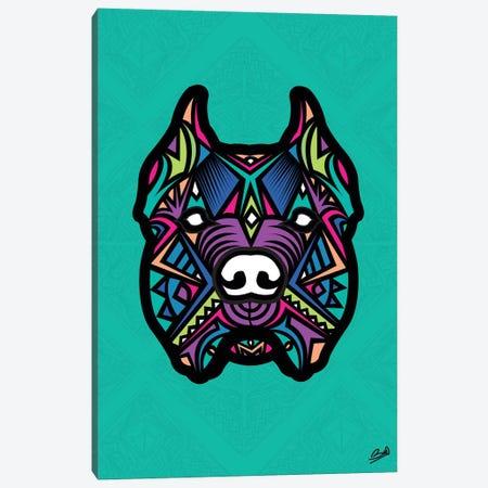 Pitbull Sauvage Canvas Print #BSA52} by Baro Sarre Canvas Artwork