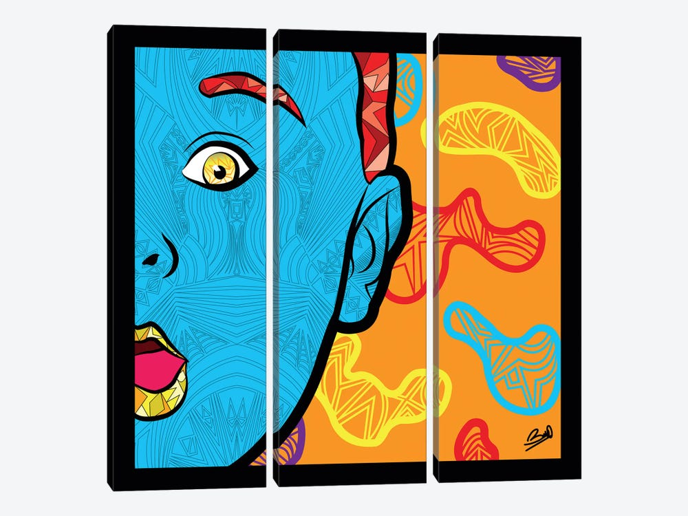 Pop Innocence by Baro Sarre 3-piece Canvas Wall Art