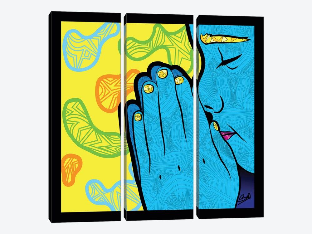 Pop Paix by Baro Sarre 3-piece Canvas Print