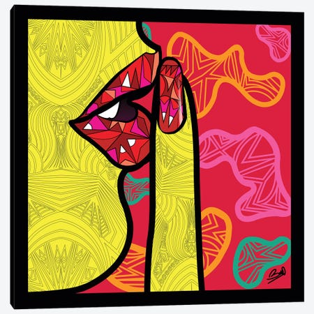 Pop Secret Canvas Print #BSA65} by Baro Sarre Canvas Wall Art