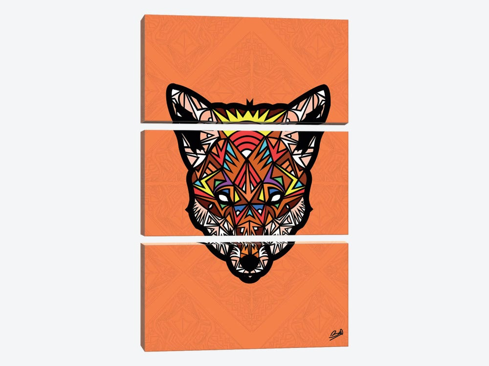 Renard Sauvage 3-piece Canvas Print