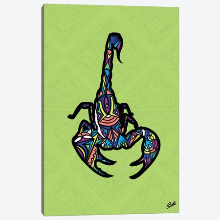Scorpion Sauvage Canvas Print #BSA70} by Baro Sarre Canvas Wall Art
