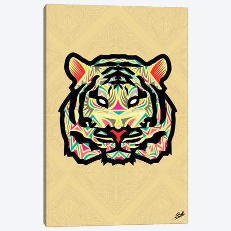 Tigre Sauvage Canvas Print #BSA75} by Baro Sarre Canvas Print