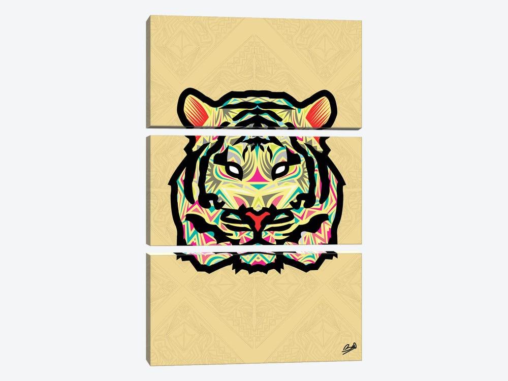 Tigre Sauvage by Baro Sarre 3-piece Canvas Art Print