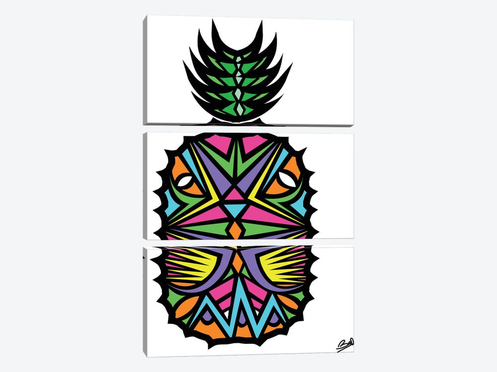 Ananas 3-piece Canvas Wall Art