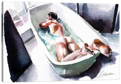 Bathing Canvas Art Print