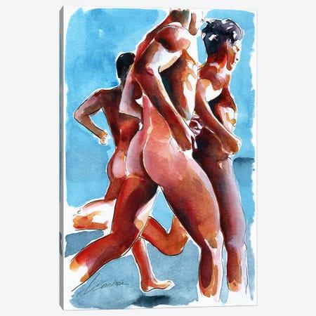 Runners Canvas Print #BSB78} by Brenden Sanborn Art Print