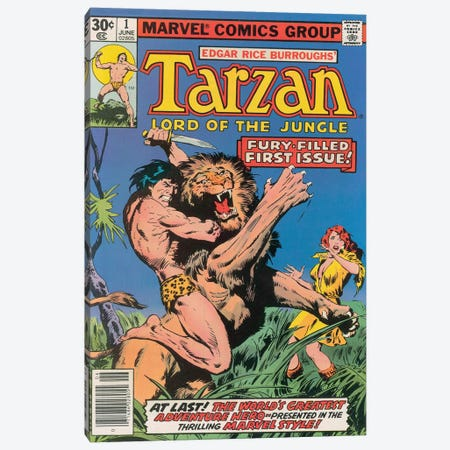 Tarzan Comic Cover #1 Canvas Print #BSC1} by Jon Buscema Canvas Art