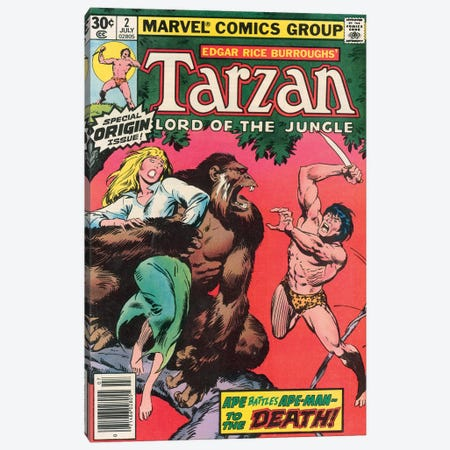 Tarzan Comic Cover #2 Canvas Print #BSC2} by Jon Buscema Canvas Artwork